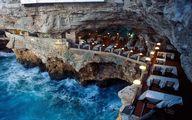 رستوران زیبایی داخل غاری در ایتالیا +عکس