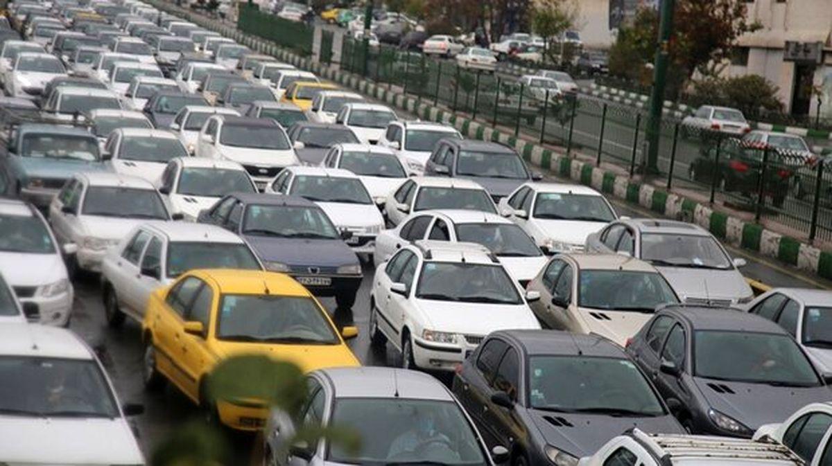 ترافیک سنگین در آزادراه تهران - ساوه