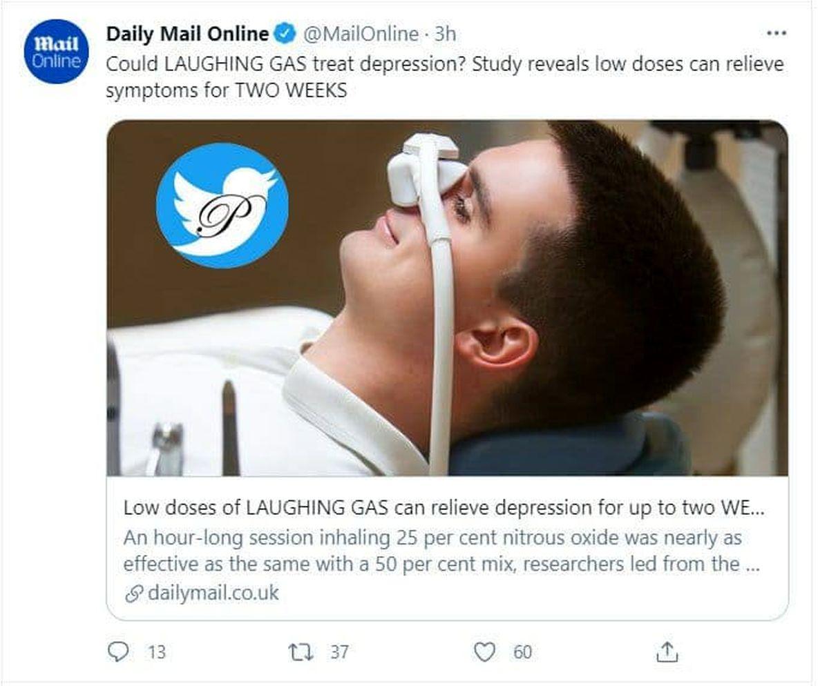 درمان افسردگی با «گاز خنده»