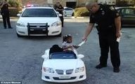 این دختر سه ساله، توسط پلیس جریمه شد! +عکس