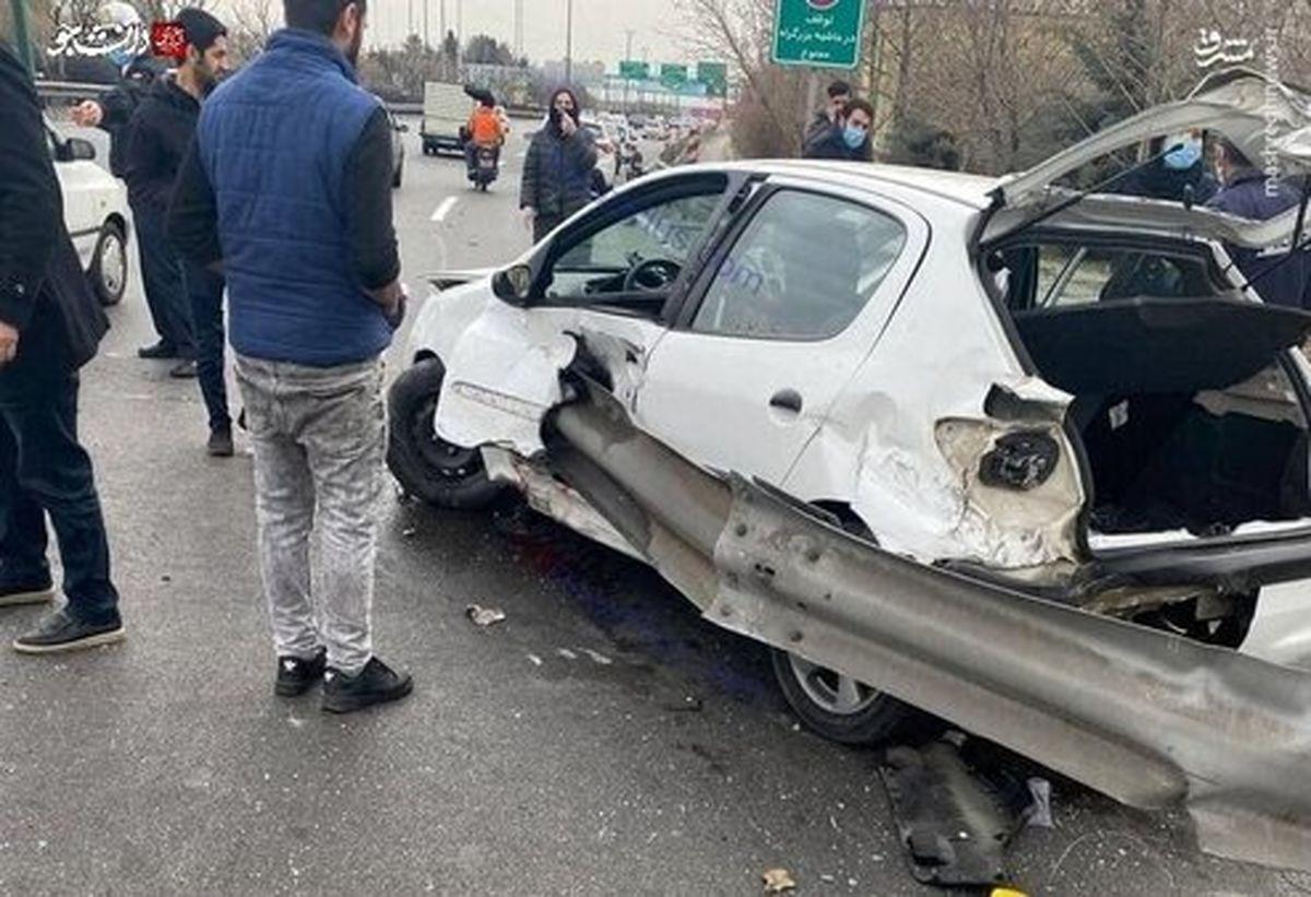 تصویری بسیار دلخراش از سانحه رانندگی در تهران
