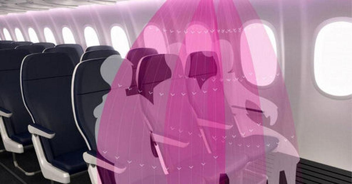 محافظ نامرئی هواپیما برای دوری از کروناویروس +تصاویر