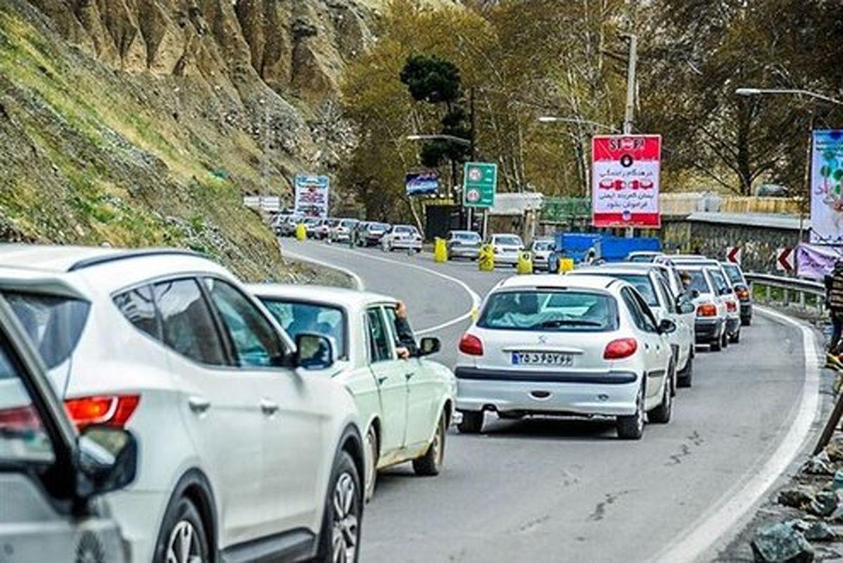 ترافیک سنگین و نیمه سنگین در چالوس و هراز