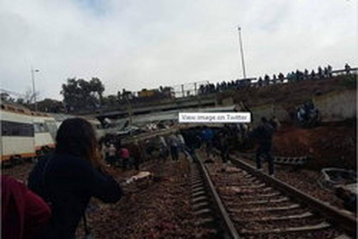 خروج قطار از ریل در مغرب/ ۱۰۰ نفر کشته و زخمی شدند
