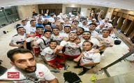 سلفی تراکتوریها در رختکن بعد از قهرمانی در جام حذفی +عکس