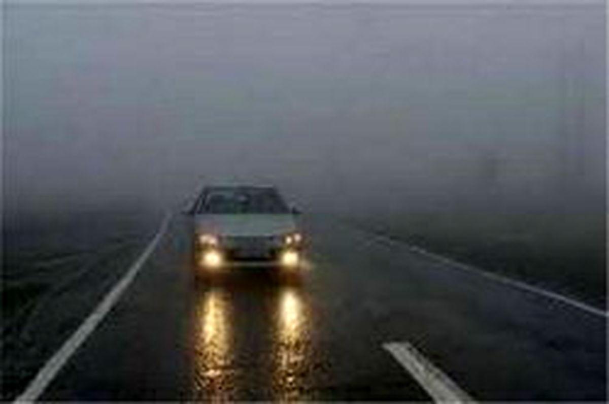مه گرفتی و کاهش دید در ارتفاعات پنج استان