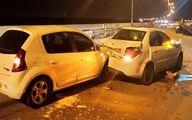 تصادف زنجیره ای در اتوبان قم-تهران +عکس