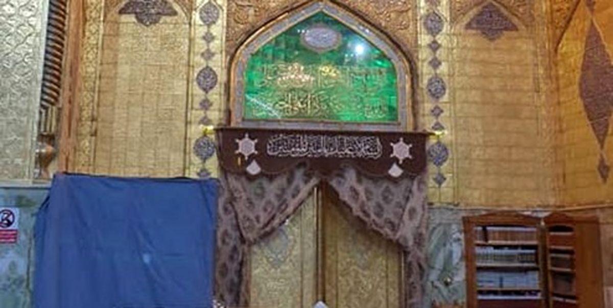 درهای حرم امام علی (ع) بسته شد+عکس