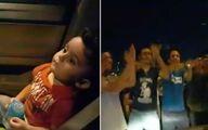 فیلم: اقدام ستودنی تظاهرکنندگان لبنانی برای آرام کردن یک کودک