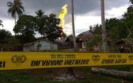 حریق مرگبار چاه نفت در اندونزی +تصاویر