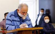 تصاویر: نجفی با ماسک و دستکش مقابل قاضی دادگاه