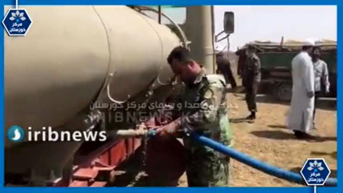 فیلم: آبرسانی ارتش به روستاهای مرزی بستان، هویزه ، دهلاویه