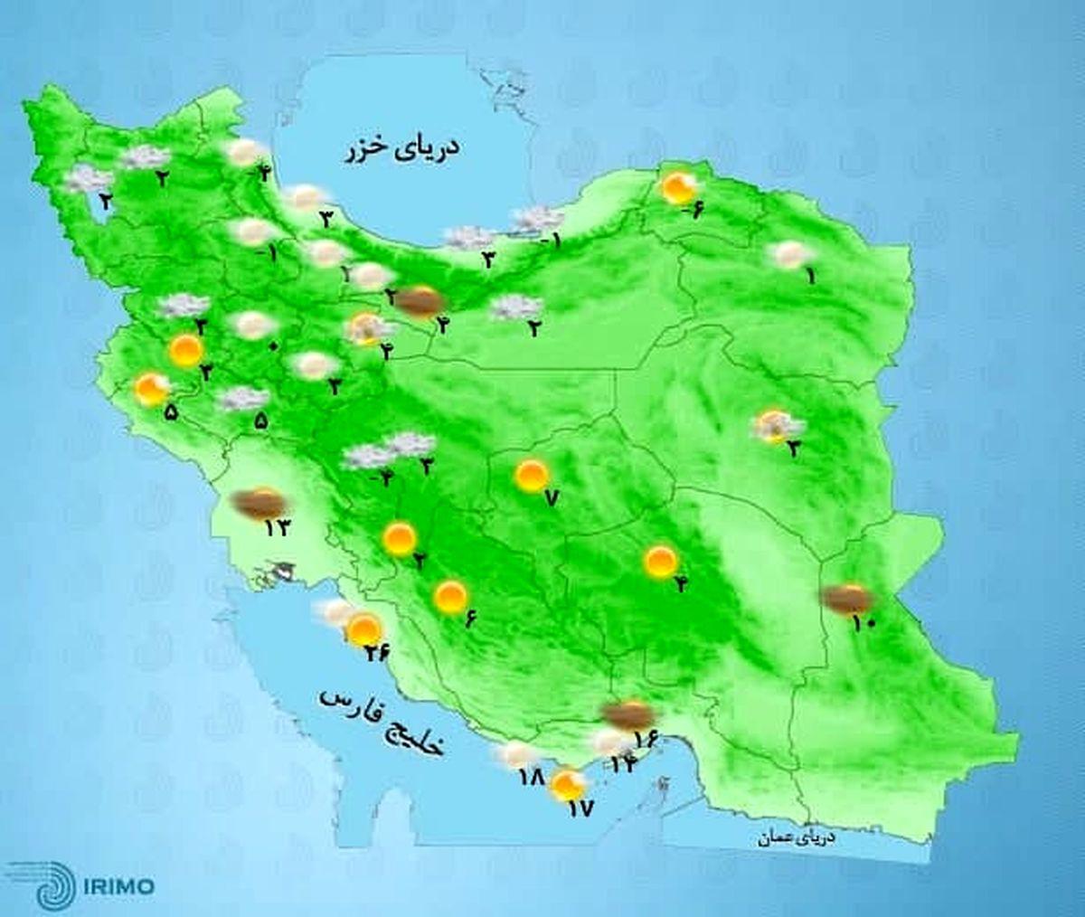 هوا گرم میشود/ هشدار وقوع بهمن +نقشه