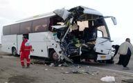 برخورد مرگبار اتوبوس با تریلی در جاده بروجرد