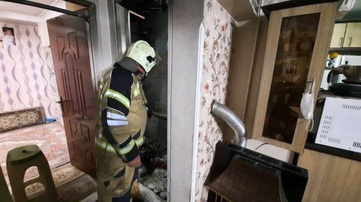 شست وشوی اجاقگاز با بنزین، دو مرد  را سوزاند +تصاویر
