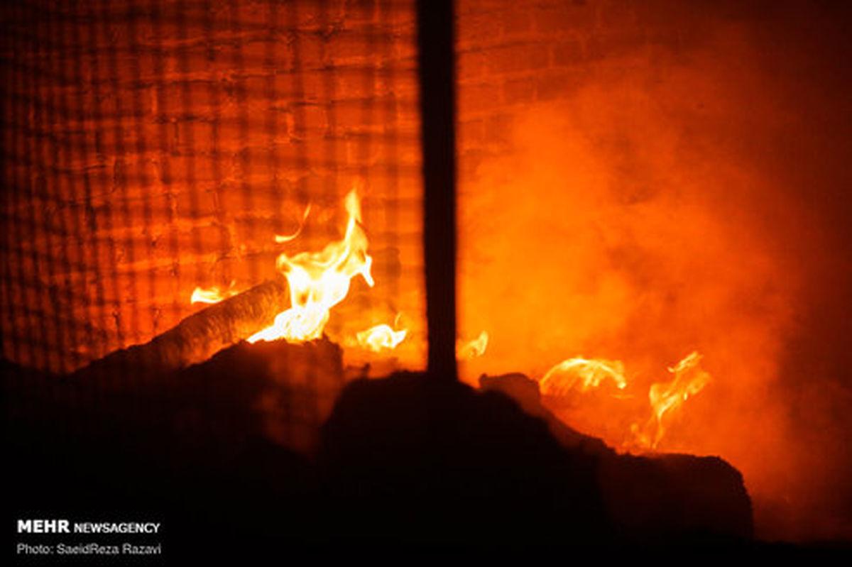 تصاویر: مهار آتش سوزی در خیابان شوش