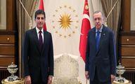 دیدار نیچروان بارزانی با اردوغان در ترکیه
