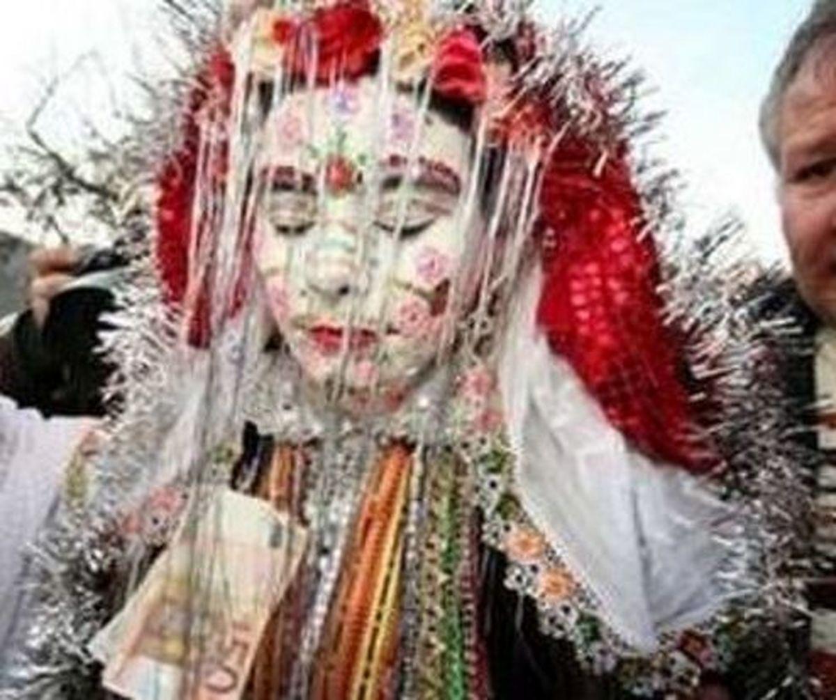 ترسناک ترین عروس جهان در یک روستا!+عکس