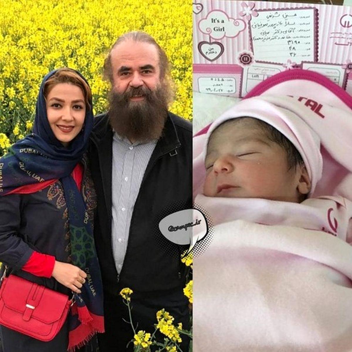 دختر سارا صوفیانی و همسر بازیگرش به دنیا آمد +عکس