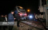 خروج قطار «قزوین- تهران» از ریل +عکس