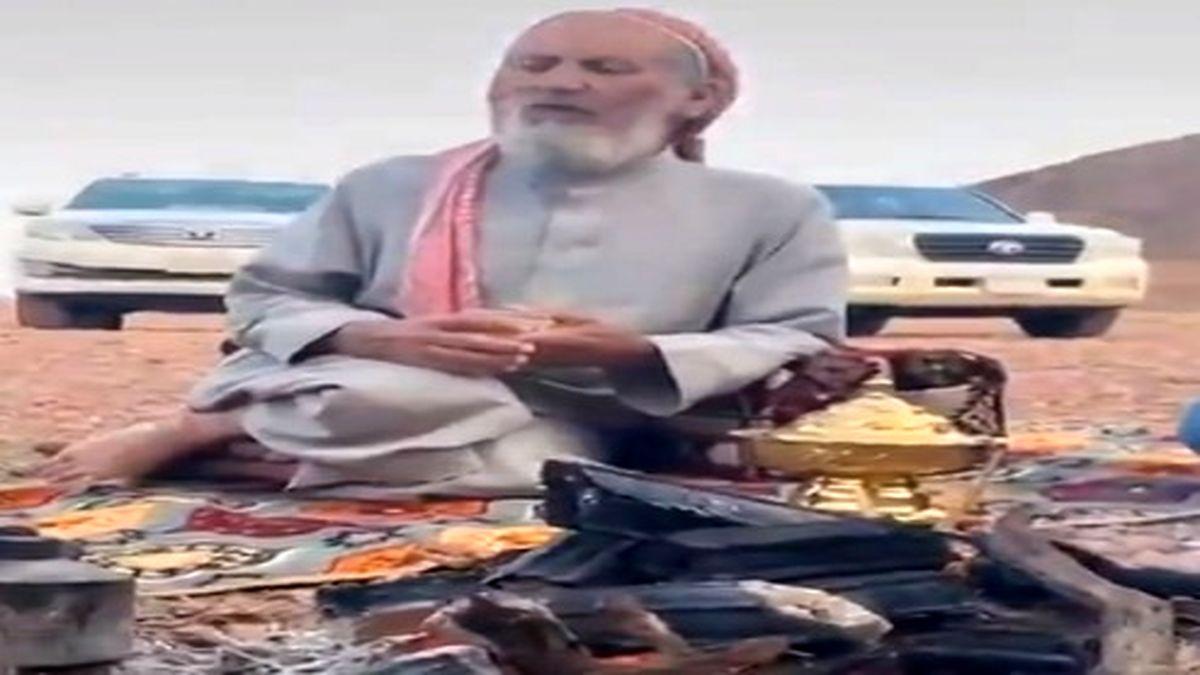 پیرمردی که با ۱۰ فرزند هنوز چهره همسرش را ندیده! +عکس