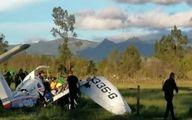 نجات معجزه آسای کودک یکساله در سقوط هواپیما +عکس