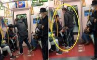 حمله لفظی شدید به مسافر در متروی ژاپن +عکس و فیلم