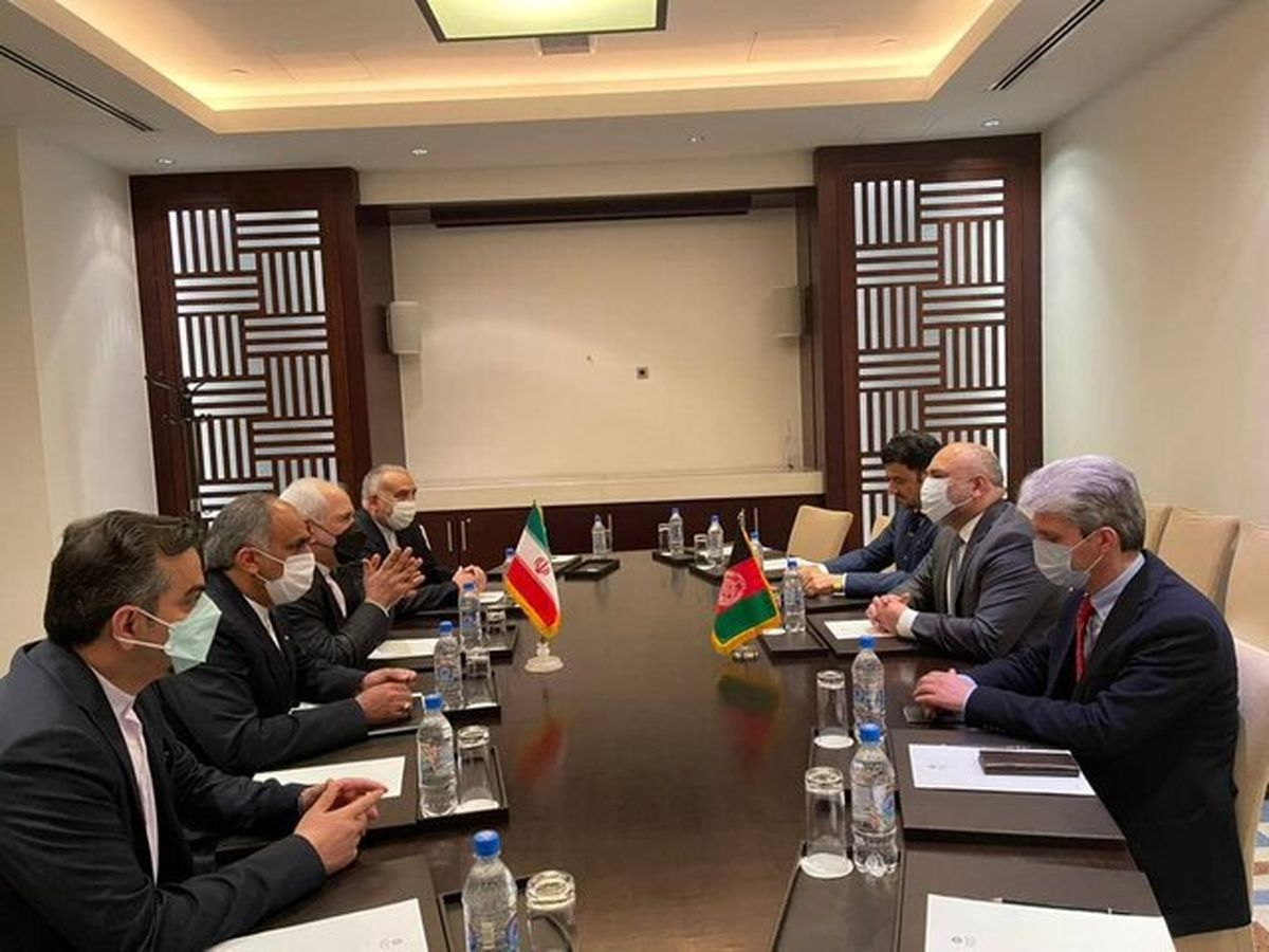 دیدار ظریف و وزیر خارجه افغانستان در تاجیکستان