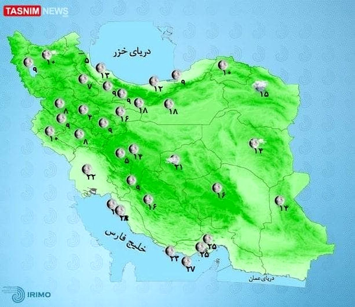 باد شدید و گرد و خاک در برخی استانها