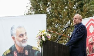 تصاویر: سخنرانی رئیس مجلس در یادواره شهدای سرخرود