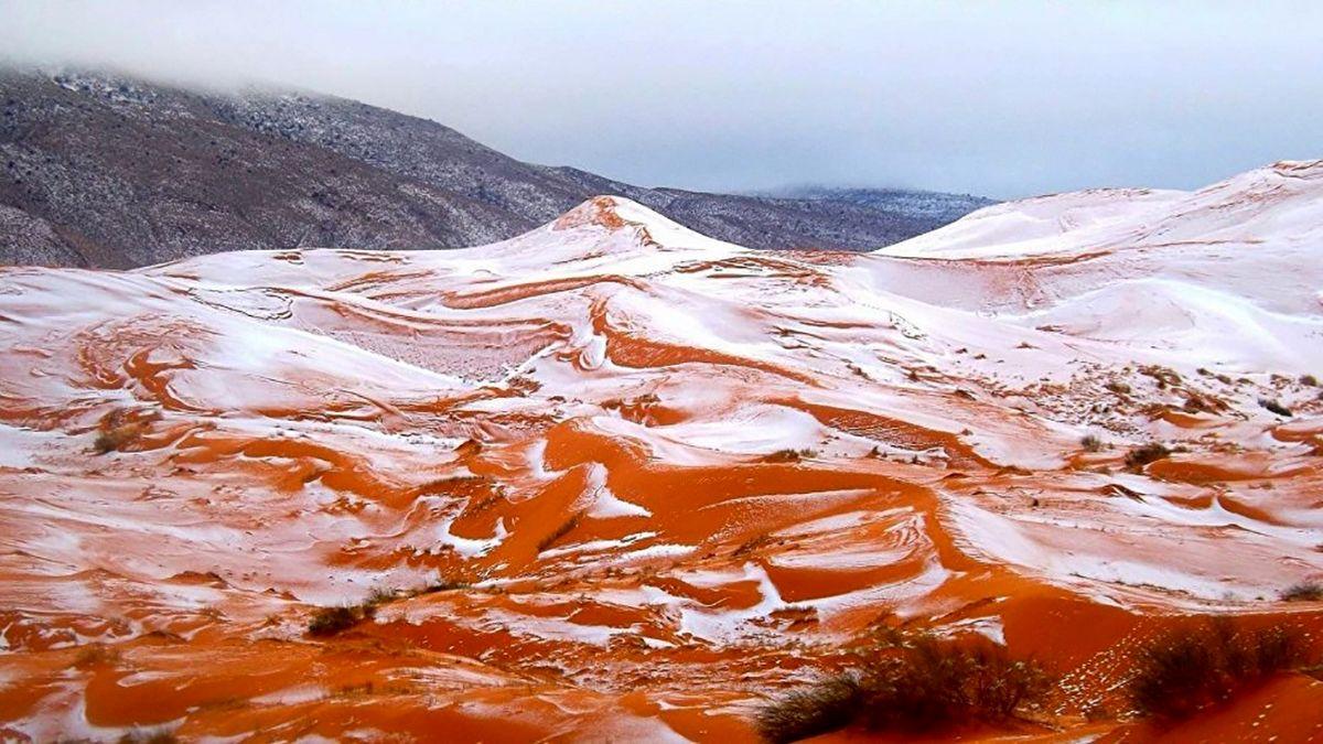 برف قهوهای در عربستان تعجب همه را برانگیخت +عکس