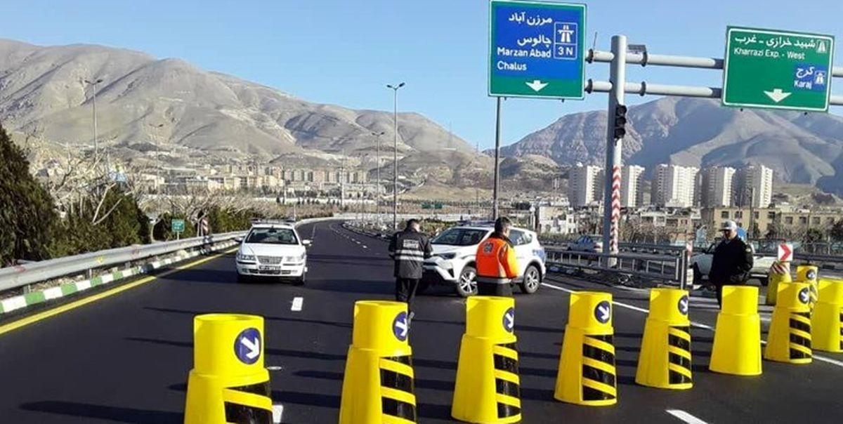 محور کندوان و آزادراه تهران – شمال یک طرفه شد