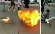 آتش بازی خطرناک پسر نوجوان  همه را شوکه کرد! +فیلم
