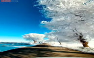 تصاویر خیرهکننده از روستای درهتخت برفی