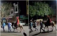 داماد تنها در خیابان های سوت و کور هند!