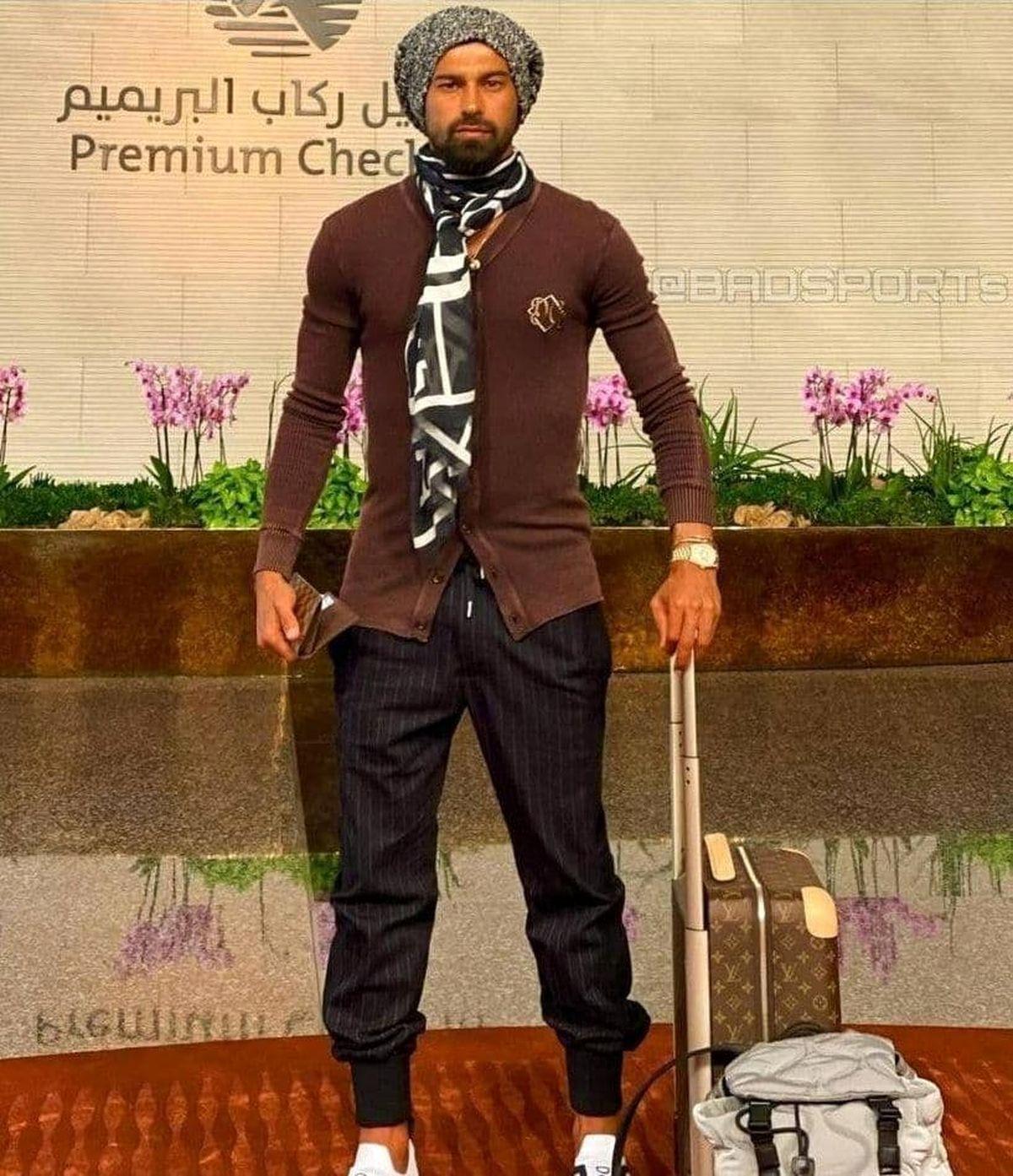 تیپ و لباس عجیب رامین رضاییان در قطر +عکس