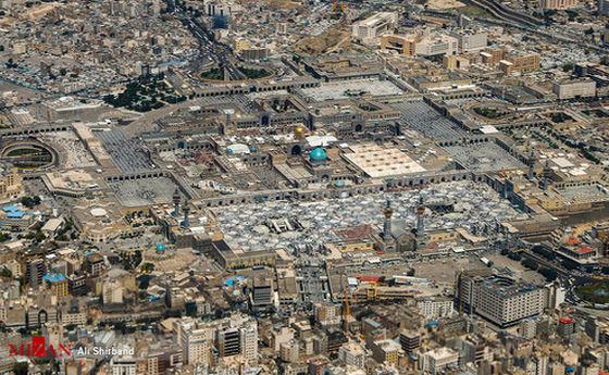 عکس: نمای هوایی از حرم امام رضا (ع)
