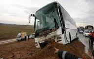 ۱۰ مصدوم براثر انحراف اتوبوس از جاده بروجن +اسامی
