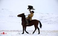 تصاویر دیدنی از شکار با عقاب در قزاقستان