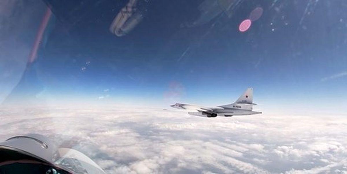 نمایش قدرت بمبافکنهای روسی بر فراز بالتیک