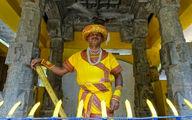 شغلی عجیب مرد هندی؛ من مجسمه ام! +تصاویر