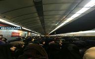عکس: ازدحام مردم در ایستگاه مترو