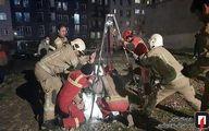 تصاویر: تماس پسر جوان با خانواده پس از سقوط در چاه ۱۰ متری
