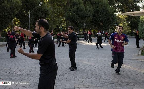 تصاویر: ورزش صبحگاهی در پارکهای تهران