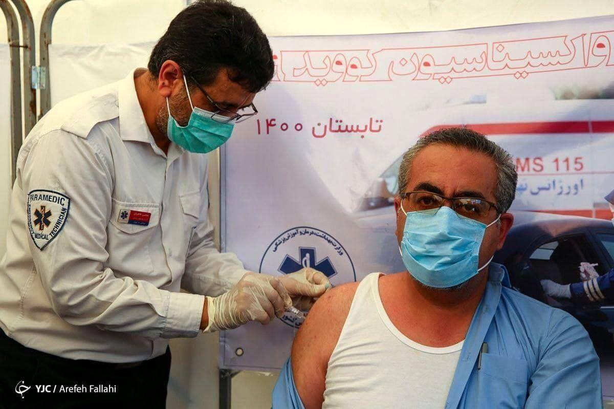 تصویری از واکسن زدن عجیب و غریب جهانپور!